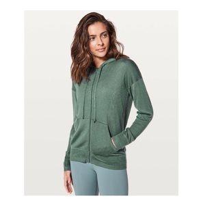 lululemon - wake up & go full zip sweater jacket